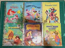 Lot of 6 A Little Golden Book Children's Books -B013