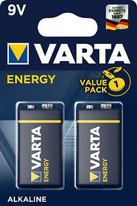 9V-Block Batterien Varta Energy Spielzeug Rauchmelder 2er Blister 9V E-Block