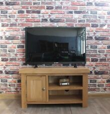 Brock Solid Oak Small Television Cabinet Stand Unit Modern Furniture