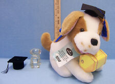 Hallmark Graduation Plush Stuffed Dog Paperweight Hat Shaped Ring Holder 3 Lot
