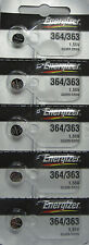 Energizer 364 363 (SR621SW) Silver Oxide Watch Batteries (1 pack of 5)