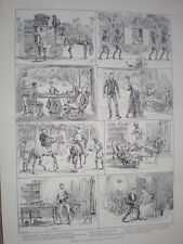 Incidents in a Young Civilians first year in India 1888 old prints