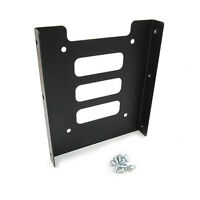 """2.5"""" to 3.5"""" Black Metal SSD HDD Mounting Adapter Bracket Hard Drive Holder"""