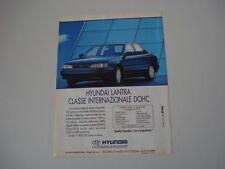 advertising Pubblicità 1992 HYUNDAI LANTRA