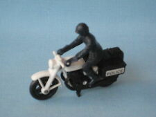 Lesney Matchbox Honda Motorcycle White Frame Police Black Seat Engine Wheels UB