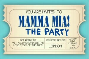 Personalised Mamma Mia The Party Mock Event Ticket - MM1