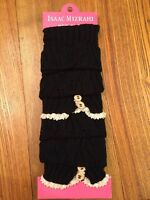 Isaac Mizrahi Black And Ivory Lace Boot Socks / Leg Warmers New