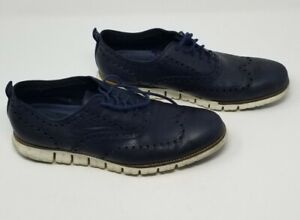 Cole Haan ZeroGrand Leather Shoes Size 12M Blue