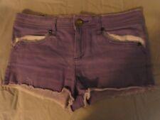 Roxy Purple denim Shorts Size 10 Distressed
