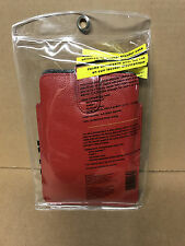"Werx Universal Fit Leather eReader case - 7 "" - RED - New"