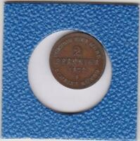 2 Pfennig Mecklenburg Schwerin 1872 Friedrich Franz II prima Erhaltung