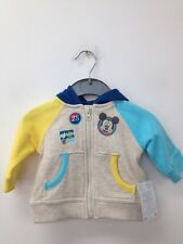 Disney Baby Amarillo/Azul Mickey Mouse Chicos Con Capucha Chaqueta RU 0-3M (W763) RRP £ 16.95