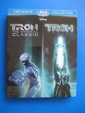 Disney's Tron Orginal Classic & Tron Legacy Blu-Ray SteelBook (2 Disc set)