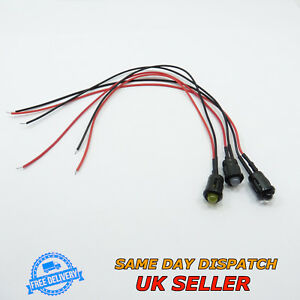 12V DC Super Bright Light 5mm LED 20cm Pre-Wired with Holder Cable Emitter Diode