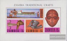 Sambia Bloque 1 (completa.edición.) nuevo con goma original 1970 locales folclor