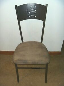 CRAMCO INC - JAVA CAPPUCCINO BROWN BISTRO CHAIR - MICROFIBER SUEDE - GENTLY USED