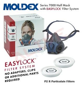 MOLDEX 7002 Reusable Half Mask Respirator with 9020 P2 R Particulate Filters