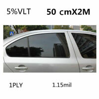 Car Black Car Home Glass Window Tint Tinting Film and shade Roll 50cm*2m 5% VLT