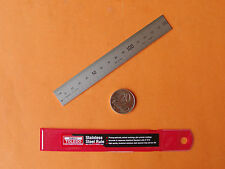 "RULE STEEL RULER 6"" / 150mm  B7516 - GRADE1 famous TOLEDO QUALITY MADE IN JAPAN"