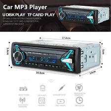 Car Stereo Single Din Bluetooth Radio Audio MP3 Player Unit Media 4 Loud Speaker