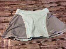 NIKE FIT DRY Light Blue Athletic Tennis Golf Pleated Skort Shorts Skirt size:S