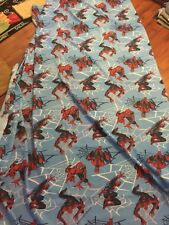 Dan Rivers Twin Size Spiderman Flat Sheet Only Very Good