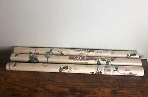 3 Double Rolls WAVERLY FLORAL Wallpaper LOT 60.75 sq ft each. #570074. Vintage