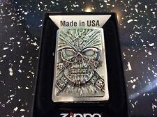 More details for zippo lighter death mask emblem  extremely rare.