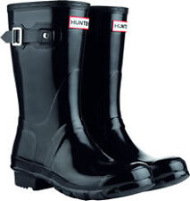 Hunter Original Short Gloss Black Ladies Wellies UK3-8