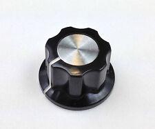 1 x BOSS STYLE EFFECT PEDAL KNOB / SMALL BLACK & ALU & RICKENBACKER KNOB 6.1