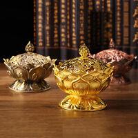 Chinese Lotus Incense Cone Burner Holder Flower Statue Censer Decor Ho Room S0U7