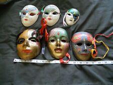 6 Decorative Masks - 5 Metal and 5 Ceramic