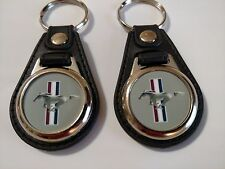 FORD MUSTANG KEYCHAIN 2 PACK GREY FOB EMBLEM LOGO 1966 1967 1968 1969 MUSCLE