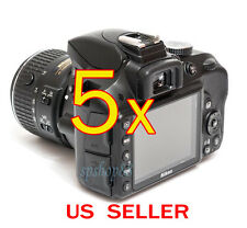 5x Nikon Digital SLR D3300 Camera LCD Screen Protector Cover Guard Shield Film