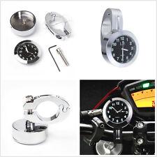 """Motocicleta Manillar de montaje universal 7/8"""" Cuadrante Reloj Reloj Calibre Kit impermeable"""