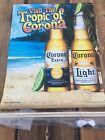 "NEW 18""x22"" Corona Beer Banner ""Visit the Tropic of Corona"""