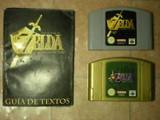 LOTE 2 x ZELDA Nintendo 64 Majora's Mask + Ocarina of Time Versión PAL España