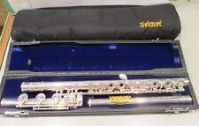 Selmer Sterling Silver Omega Flute Gold Lip +Original Hard Case +Soft Case 3452