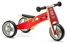 Nicko NIC811 Cars Mini Convertible Wooden Balance Bike Toddler Trike 18 months+