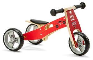 Nicko NIC811 Cars Mini Convertible Wooden Balance Bike Toddler Trike 18 months+