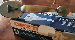 Dexter Schlage Handleset w/Deadbolt JH62 Bar 609 BYR 16-051 J250-013 Ant Brass