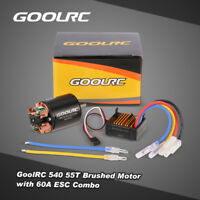Brand New GoolRC 540 55T Brushed Motor with 60A ESC for 1/10 RC Car X2O4