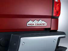 Cajun Red HIGH COUNTRY Vinyl Decal Inserts For 2014-2018 Silverado New Free Ship