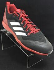 Men's PowerAlley 5 Baseball Metal Cleats B39186 Red/Black Size 12.5
