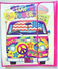 Vintage 1990's Lisa Frank Stuart Hall Peace Van Trapper Keeper Binder
