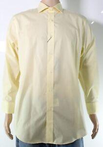 Lauren by Ralph Lauren Mens Dress Shirt Bright Yellow Size 14 1/2 $75 #165