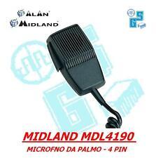 MICROFONO MIDLAND MDL 4190 4 poli x RICETRASMETTITORE CB ALAN 48 68 BARACCHINO
