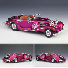 1/18 Diecast Car Model Mercedes-Benz 500K Clasic Vehicle Collection Display Toys