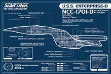 Impression a5-Star Trek la prochaine génération Blueprint (Photo Poster art Voyager)