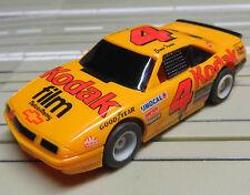 para H0 coche slot racing Maqueta de tren NASCAR N º 4 con TYCO CHASIS
